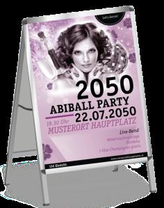 Plakat Abiball Pinup Rosa A1
