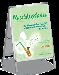Plakat Abiball Saxophon A1 Gruen