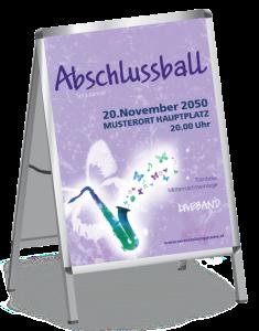 Plakat Abiball Saxophon A1 Violett