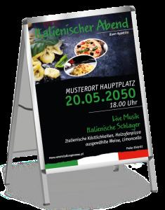 Plakat Italienischer Abend Buon Appetito gruen