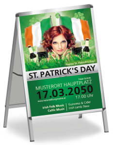 Plakat St. Patricks Day Irland A2 Gruen