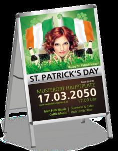 Plakat St. Patricks Day Irland A2 Schwarz