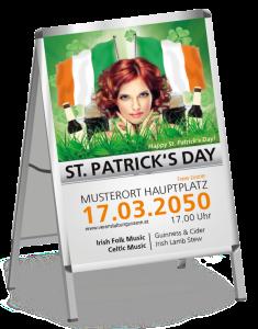 Plakat St. Patricks Day Irland A2 Weiss