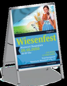 Plakat Wiesenfest Dirndl A1 Blau