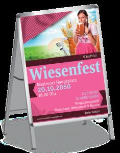Plakat Wiesenfest Dirndl A1 Pink