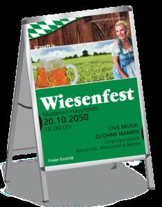 Plakat Wiesenfest German A1 Gruen
