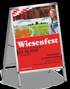 Plakat Wiesenfest German A1 Rot
