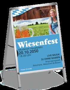 Plakat Wiesenfest German A2 Blau