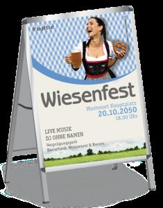 Plakat Wiesenfest Kornfeld A1 Blau