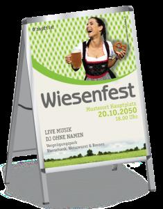 Plakat Wiesenfest Kornfeld A1 Gruen