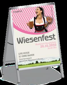 Plakat Wiesenfest Kornfeld A1 Pink