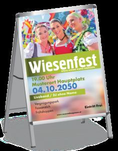 Plakat Wiesenfest Maedels A1 Gruen