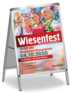 Plakat Wiesenfest Maedels A1 Rot