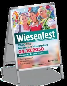 Plakat Wiesenfest Maedels A1 Tuerkis