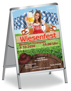 Plakat Wiesenfest Tracht A1 Rot