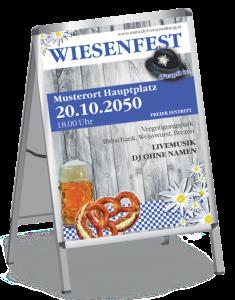 Plakat Wiesenfest Wiesn A1 Blau