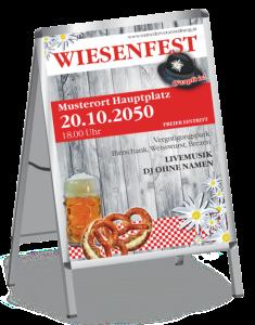 Plakat Wiesenfest Wiesn A1 Rot