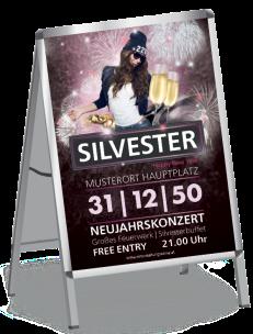 Plakat Silvester Milady Violett