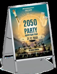Plakat Silvester Party A1 Blau