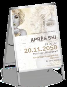 Plakat Apres Ski Eiskoenigin Gold A0