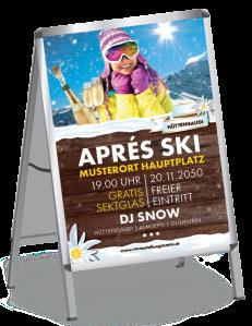 Plakat Apres Ski Huette Gelb A0