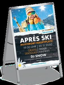 Plakat Apres Ski Huette Orange A0