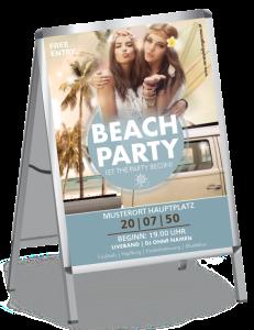 Plakat Sommerfest Hippie Blau A0