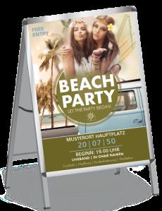 Plakat Sommerfest Hippie Gruen A0