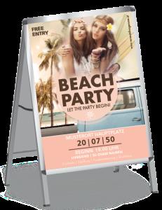 Plakat Sommerfest Hippie Rosa A0