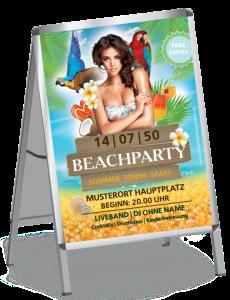 Plakat Sommerfest Meeresbrise Braun A0