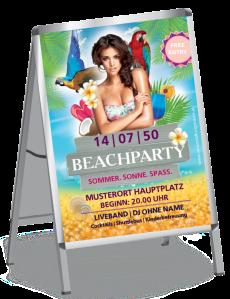 Plakat Sommerfest Meeresbrise Violett A0